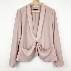 GAP Blush Pink Chiffon Blazer 8 Light Pockets